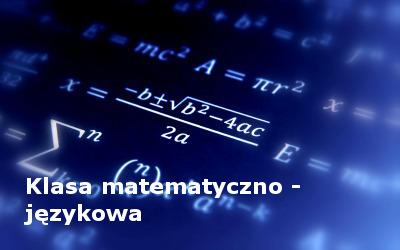 Klasa matematyczno - językowa